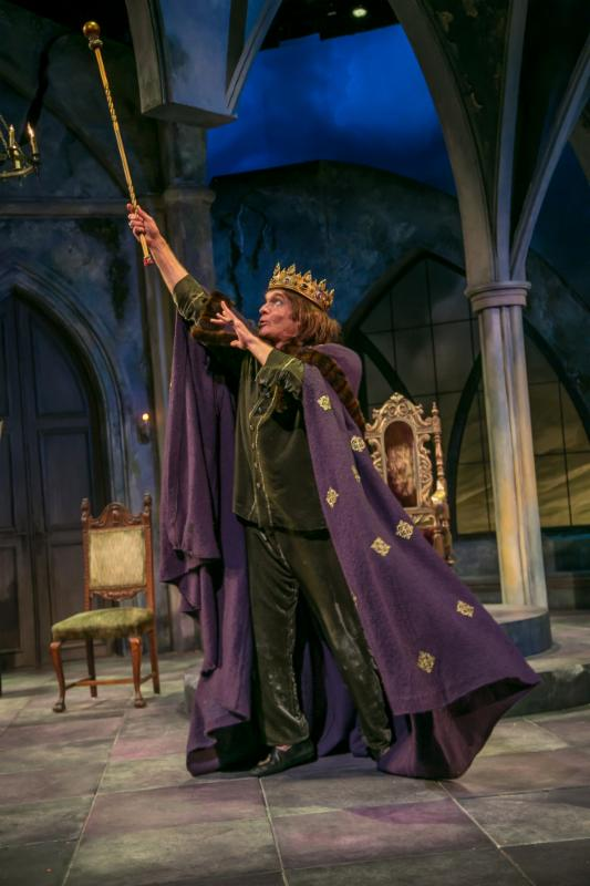 Exit the King by Eugene Ionesco and translated by Donald Watson. The Shakespeare Theatre of New Jersey 2016. Directed by Bonnie J. Monte. Pictured: Brent Harris. Photo credit: Jerry Dalia.