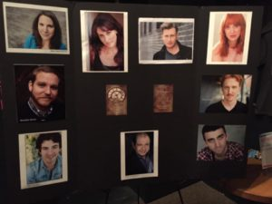 "Photo by K Nowosad of cast board for ""A Scythe of Time"" at NYMF 2016"