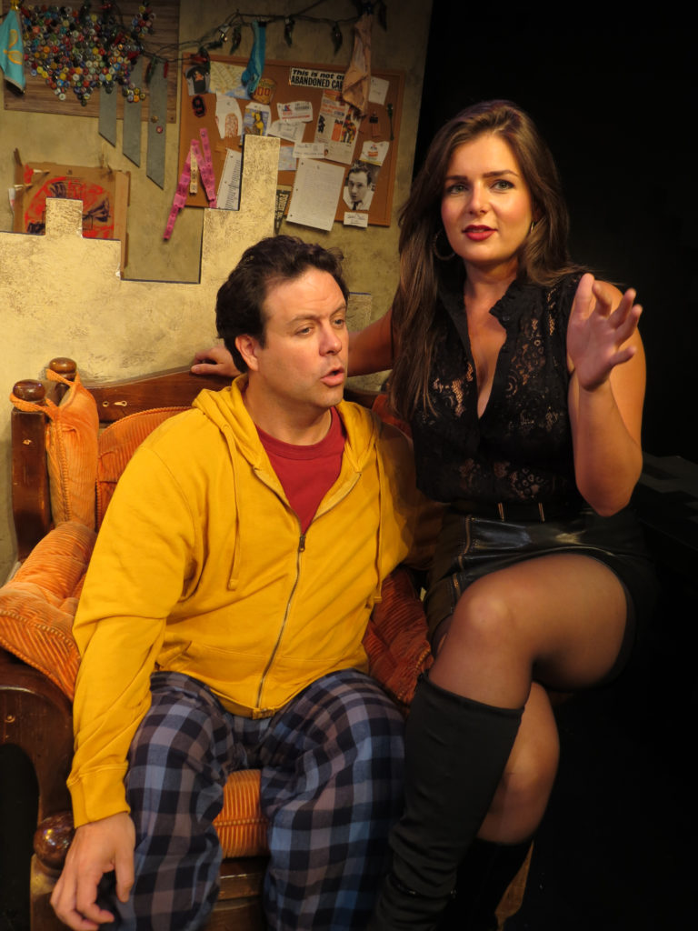 Jared Michael Delaney and Brittany Proia in 'Mad Love'. Photo credit: SuzAnne Barabas