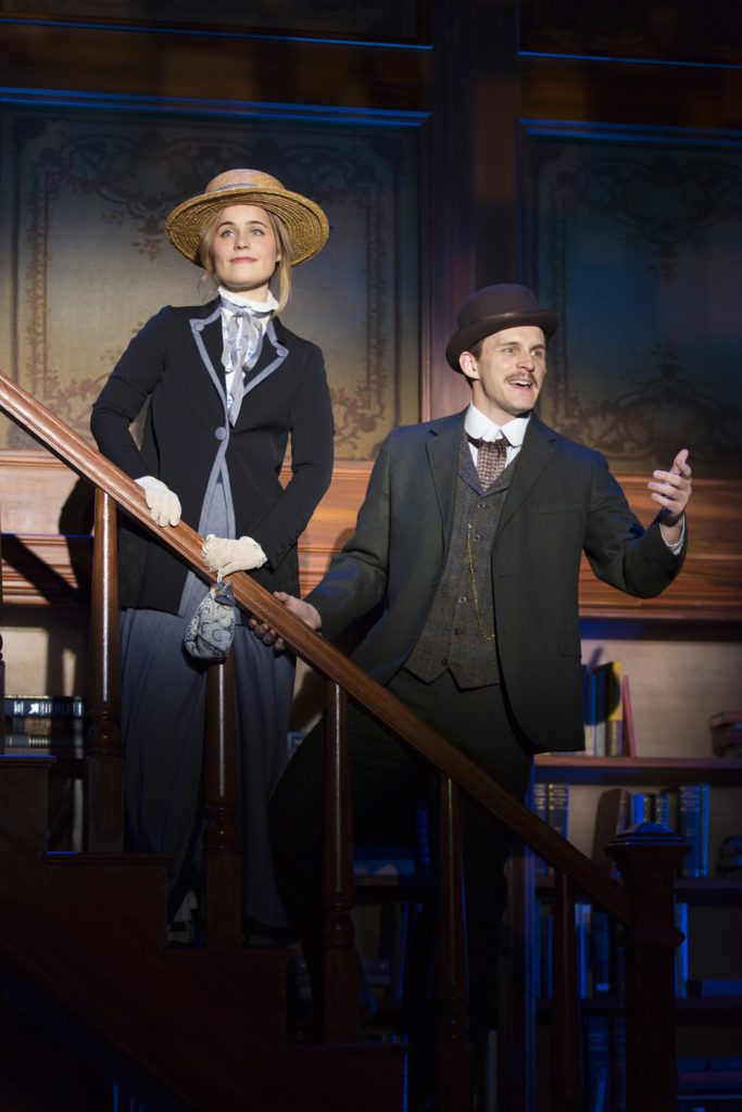 """Elise Vannerson and Ben Michael play Jerusha and Jervis in """"Daddy Long Legs"""" at George Street Playhouse, (Photo by T. Charles Erickson)"""